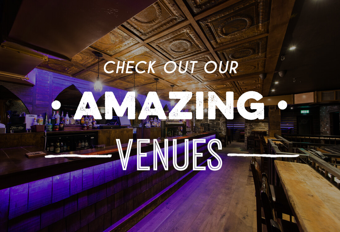 Image with text reading 'check out our amazing venues' for our Edinburgh bars