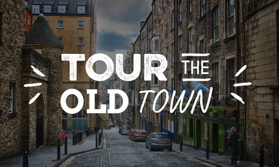 Image link reading 'Tour the old Town' for the Old Town Pub Co. venues tour map
