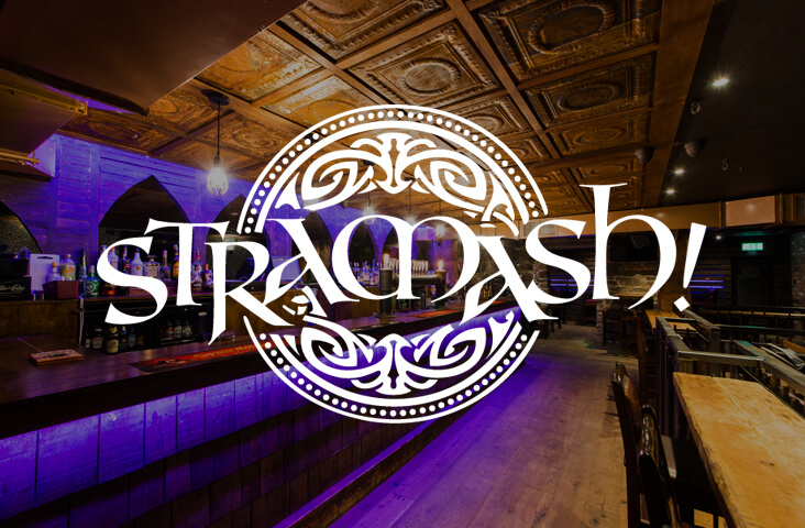 Interior of Stramash with logo overlay - one of the best bars Edinburgh part of the Old Town Pub Co.