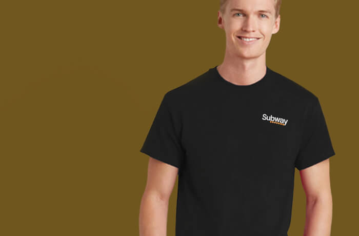 Young man in black Subway Cowgate T-shirt - one of our Edinburgh Bars